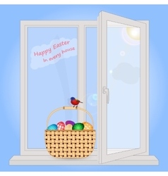 Easter in each house vector