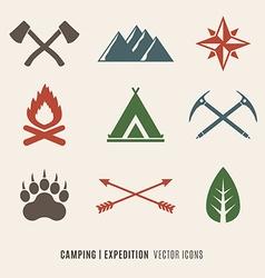 Expedition symbols vector