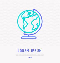 globe thin line icon modern vector image