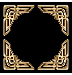 golden celtic corners vector image