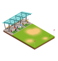 golf training isometric composition vector image