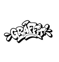 Graffiti font in style vector