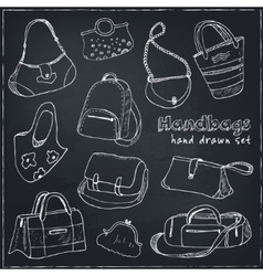 Hand drawn doodle sketch set of bags vector image