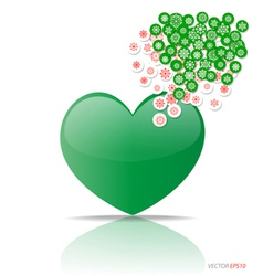 Heart with cloud of Christmas application vector