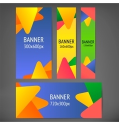Horizontal and vertical web banners vector image