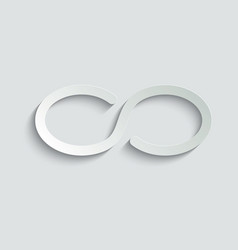 Infinity icon eternity icon limitless endless vector