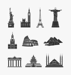 Landmarks symbols vector