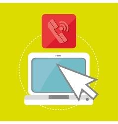 laptop arrow app icon vector image