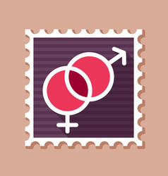 Male and female stamp symbols vector