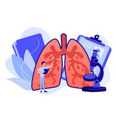 obstructive pulmonary disease concept vector image