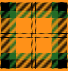 orange black and green tartan plaid seamless patte vector image