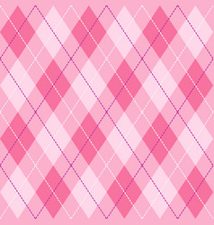pink violet and white seamless argyle pattern vector image