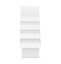 Pos floor cardboard product display racks vector