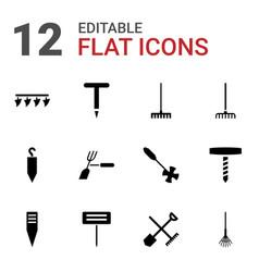 Rake icons vector