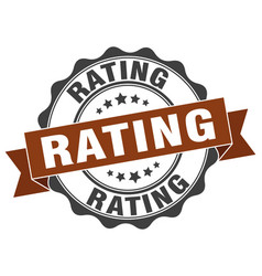 Rating stamp sign seal vector