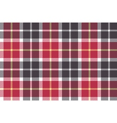 Red and gray check fabric seamless texture vector
