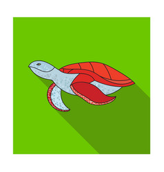 Sea turtle icon in flat style isolated on white vector