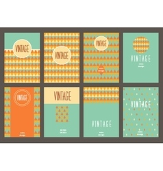 Set of creative vintage cards Best creative hand vector image