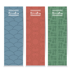 Set of different three graphic vertical banners vector