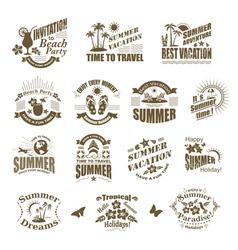 Set of SUMMER design elements and frames vector image