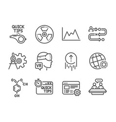 set science icons such as journey path world vector image