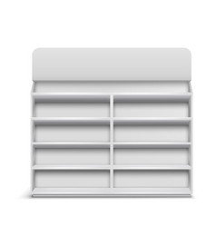 shop rack with empty shelves realistic vector image