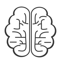 single brain icon vector image