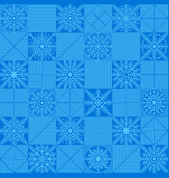 snowflakes placed in a chess checkerboard order vector image