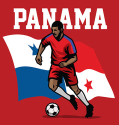 Soccer player of panama vector