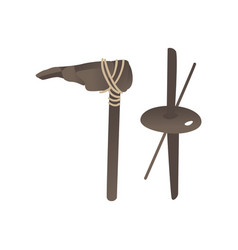 stone age primitive tools axe hummer spear vector image