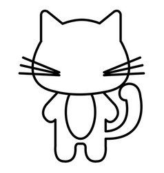 stuffed animal cat vector image