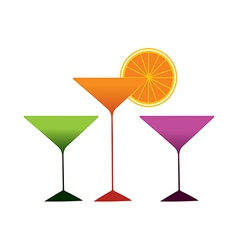 The cocktails are placed vector image