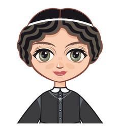 The girl in orthodox jews dress vector