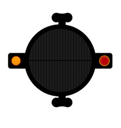 Top view of a barbecue grill vector