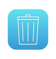 Trash can line icon vector image