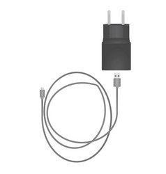 usb charger with cable vector image