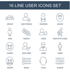 User icons vector