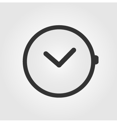 Watch icon flat design vector image