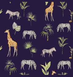 Watercolor african pattern vector