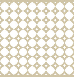 white and gold geometric seamless ornament vector image