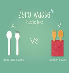 Zero waste concept poster eco education vector