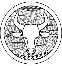 Zodiac sign Taurus vector image