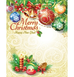 Christmas template design vector image