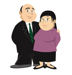 fat couple vector image vector image
