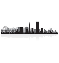 San Francisco USA city skyline silhouette vector image vector image