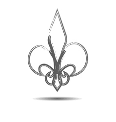 The heraldic lily vector image