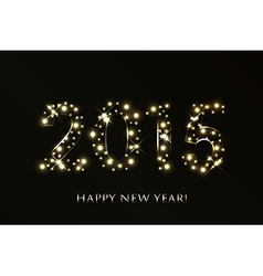 2015 Happy New Year background with gold sparkles vector image vector image
