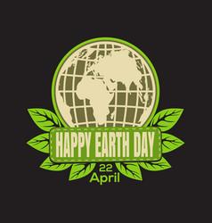 earth day logo icon vector image