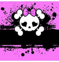 Pink Skull vector image