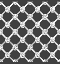 seamless diagonal rope mesh - rope grid pattern vector image